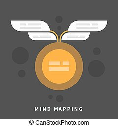 Mind map template with place for your content - Abstract...