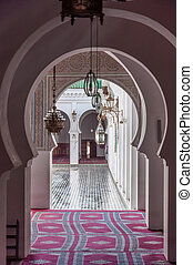 Gate to the Madrasa Bou Inania in Fez, Morocco, Africa