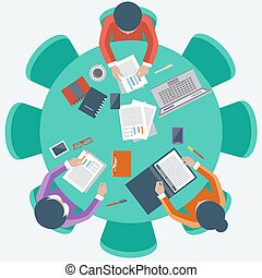 Office workers on meeting and brainstorming - Office...