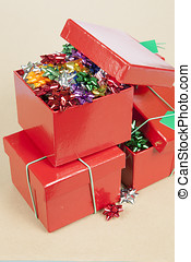 Christmas Cockades in a Box - Christmas Color Cockade in a...