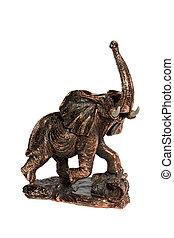 Figurine handcrafted elephant - Bronze figurine an elephant...