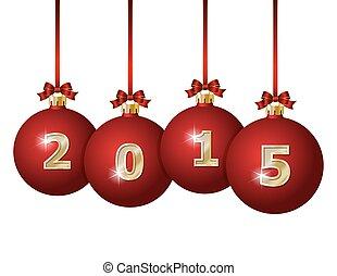 Glass Christmas Balls 2015 - Red Christmas Balls 2015...