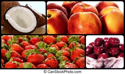 fruit collection - summer fruits composition