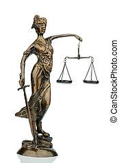 Escultura, de, justitia,