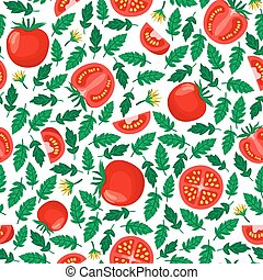 tomatoes seamless pattern