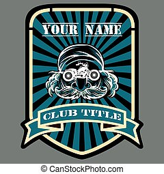 Biker or Motor racing club emblem