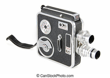 Vintage video camera - Very old double-lens 8mm video camera...