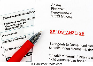 voluntary disclosure to the tax office - photo icon for a...