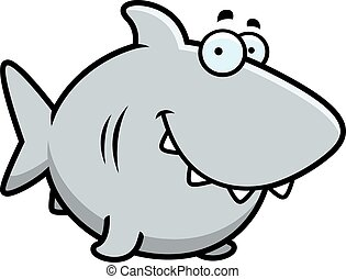 Cartoon Shark Smiling