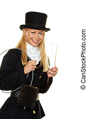 chimney sweep. - woman as a chimney sweep. lucky charm new...