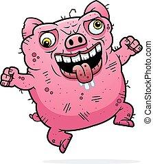 Crazy Ugly Pig
