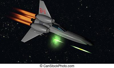 starfighter shooting - starfighter firing their guns 3D...