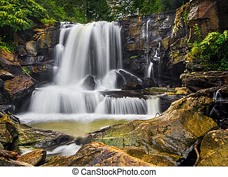 Upper Laurel Creek Falls is a waterfall in scenic New River...