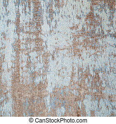 weathered board with old blue paint - abstract background...