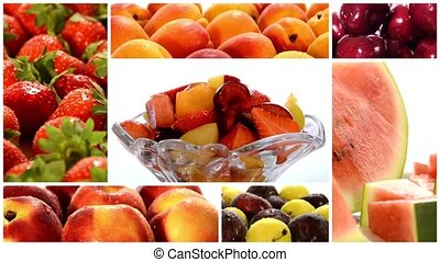 fruit collection - summer fruits collage
