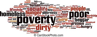 Poverty word cloud concept Vector illustration