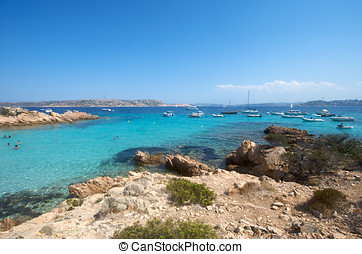 Wonderful paradise beach in Maddalena, Sardinia, Italy
