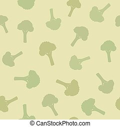 Broccoli seamless pattern. Vector EPS 10 illustration