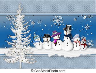 Group of Snowmen