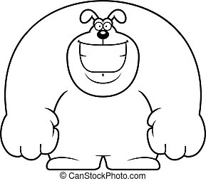 Cartoon Dog Smiling