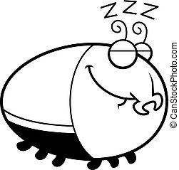 Sleeping Cartoon Beetle