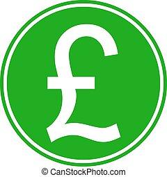 Pound symbol button on white background. Vector...