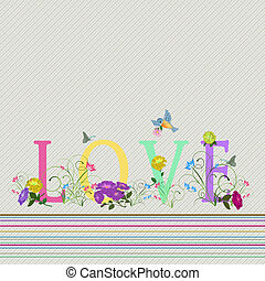 LOVE BACKGROUND - FLOWERS