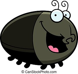 Cartoon Beetle Smiling