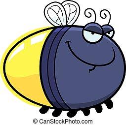 Sly Cartoon Firefly - A cartoon illustration of a firefly...