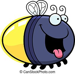 Hungry Cartoon Firefly - A cartoon illustration of a firefly...