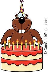 Cartoon Gopher Birthday