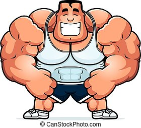 Cartoon Personal Trainer - A cartoon illustration of a...