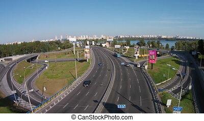 Highway, Kiev - This is a highway in Kiev, Ukraine. The road...