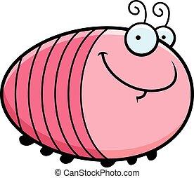 Happy Cartoon Grub - A cartoon illustration of a grub...