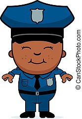 Boy Police Officer - A cartoon illustration of a police...