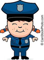 Girl Police Officer