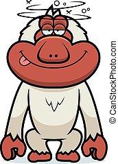 Cartoon Stupid Macaque