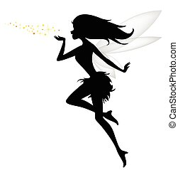 Silhouette of a fairy