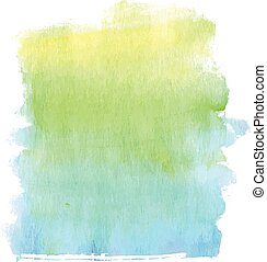 Rainbow colors watercolor textured banner for web. Vector...
