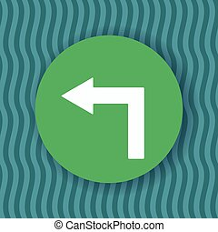 Left turn in green circle