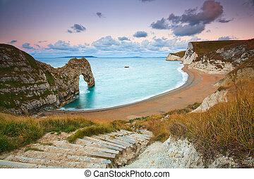 Durdle Door in Dorset, UK. - Durdle Door on Jurassic Coast...