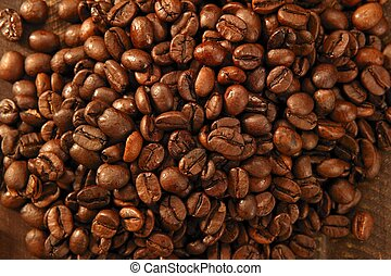 Toasted coffe beans texture