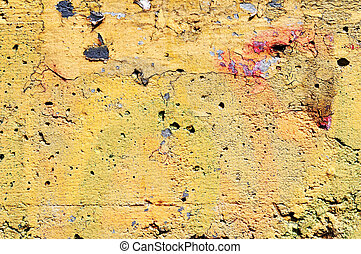 texture of the old painted concrete