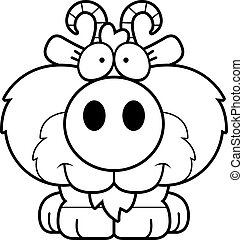 Cartoon Goat Smiling