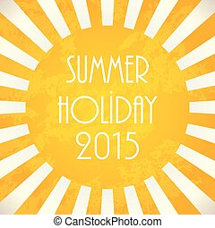 Summer background - 2015, vector illustration, EPS10