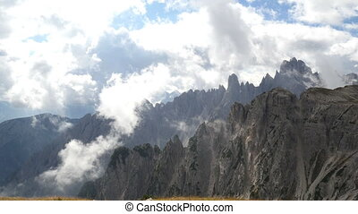 pan dolomite alps - A pan at dolomite alps to refuge Auronzo...