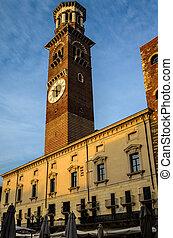 Lamberti Tower - a nice view of Lamberti Tower in Verone...