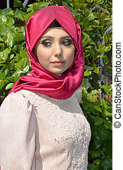 Muslim young woman - Beautiful muslim young woman very...