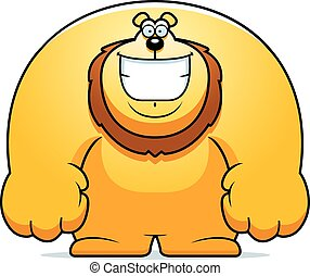Cartoon Lion Smiling