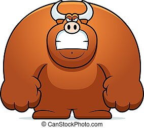 Angry Cartoon Bull